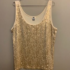 💜3/40💜 Champagne sequins tank